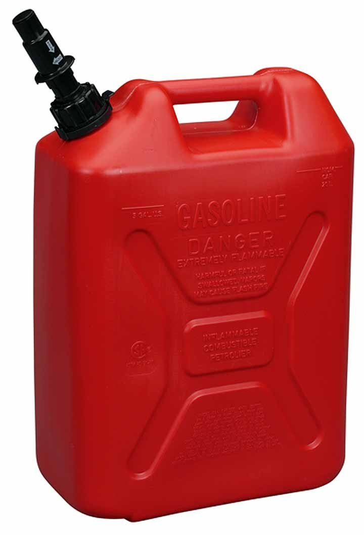how to clean a plastic gas tank